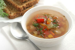 Vegetable soup Stock Photos
