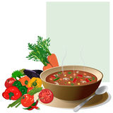 Vegetable soup vector illustration