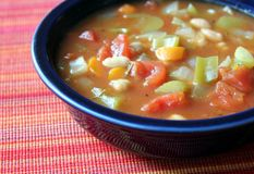 Free Vegetable Soup Royalty Free Stock Image - 24976456