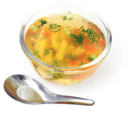 Vegetable soup. On a white background Royalty Free Stock Images