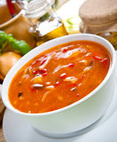Vegetable soup. Asian food - vegetable spicy soup Stock Images