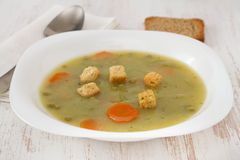 Vegetable soup with beans Stock Photo