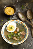 Vegetable soup with beef Stock Photos