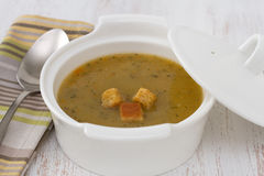 Vegetable soup in the bowl Royalty Free Stock Images