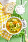 Vegetable soup. In a bowl Stock Photo
