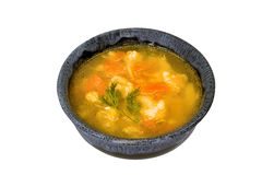 Vegetable soup in a bowl. Under the Russian recipe Royalty Free Stock Photography