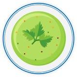 Vegetable soup in bowl. Illustration Stock Image