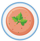 Vegetable soup in bowl Royalty Free Stock Photography