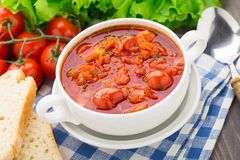 Vegetable soup in a bowl Stock Photos