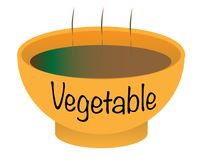 Vegetable Soup Bowl. A Vegetable soup bowl over a white background Royalty Free Stock Photography