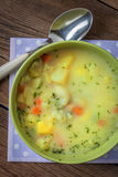 Vegetable soup in bowl. Royalty Free Stock Images