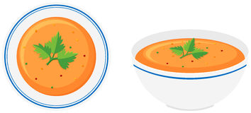 Vegetable soup in bowls Stock Photo
