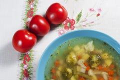 Vegetable soup. Stock Photos