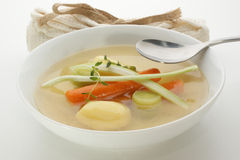 Vegetable soup with  carrot and potato Royalty Free Stock Image