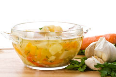Vegetable soup with cauliflower Stock Image