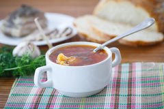 Vegetable soup with cauliflower and beets Stock Images