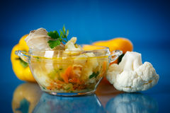 Vegetable soup with cauliflower Royalty Free Stock Photography