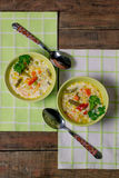 Vegetable soup with cheese Royalty Free Stock Photos