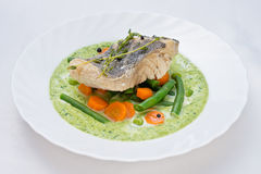 Vegetable soup with fish Stock Photos