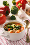 Vegetable soup goulash with meat. Royalty Free Stock Photo