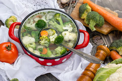 Vegetable soup - healthy food Stock Photos