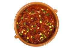 Vegetable Soup. Homemade Vegetable Soup with beans. Chili. Selective focus Royalty Free Stock Images