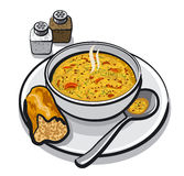 Vegetable soup. Illustration of the vegetable soup Royalty Free Stock Images
