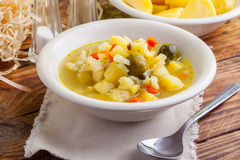 Vegetable soup. Royalty Free Stock Image