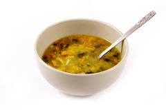 Vegetable soup isolated on white Royalty Free Stock Images