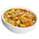 Vegetable Soup Isolated on White. A simple vegetarian meal Royalty Free Stock Photography