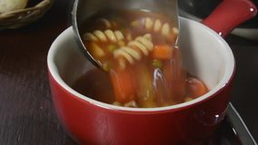 Vegetable soup stock video