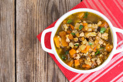 Vegetable soup with lentils Royalty Free Stock Photography