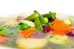 Vegetable soup macro Stock Image