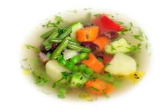 Vegetable soup macro Royalty Free Stock Photography