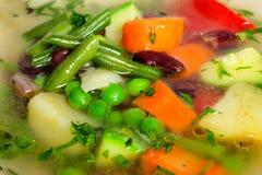 Vegetable soup macro Stock Photo