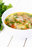 Vegetable soup with meat Royalty Free Stock Photo