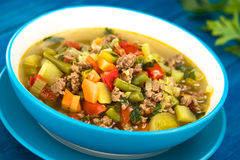 Vegetable Soup with Mincemeat Stock Photo