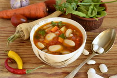 Vegetable soup, minestrone Stock Photos