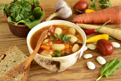 Vegetable soup, minestrone Stock Photo