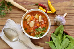 Vegetable soup, minestrone Royalty Free Stock Photo