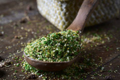 Vegetable soup mix with semolina Stock Photo