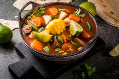 Vegetable soup Mole de olla Royalty Free Stock Images