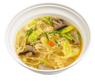 Vegetable soup with mushrooms Stock Photo