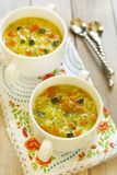 Vegetable soup with noodles Stock Photography