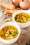 Vegetable soup with pasta Royalty Free Stock Photo