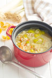 Vegetable soup with pasta Royalty Free Stock Images