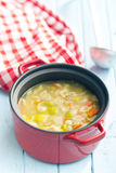 Vegetable soup with pasta Stock Images