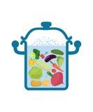 Vegetable soup pot. Food for vegetarians.  Stock Image