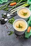 Vegetable soup puree royalty free stock photo