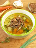 Vegetable soup with red quinoa Royalty Free Stock Photography